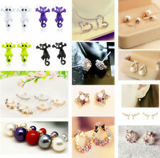 New Fashion Pearl Crystal Rhinestone Gold/Silver Plated Earring Ear Stud Jewelry