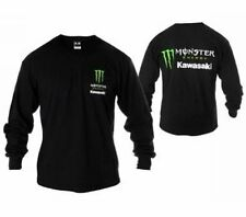 Monster Energy Kawasaki long sleeve T shirt Black