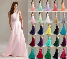 One Shoulder Long Formal Evening Party Bridesmaid Dress Size 6-24