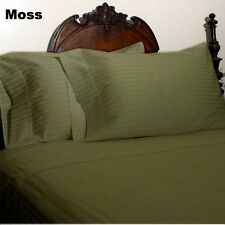 AU Choice Bedding Collection 1000TC Egyptian Cotton All Sizes Moss Striped
