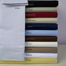 (Fitted Sheet+2 Pillow Case)1000tc Egyptian Cotton Solid/Stripe Make your size