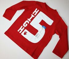 Okie Dokie Red Shirt Top Sweater High 5 Boys Girls size 2T 4T