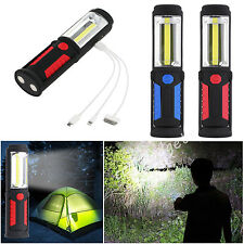 3W 16COB LED USB Rechargeable Inspection Lamp Torch Work Emergency Light Outdoor
