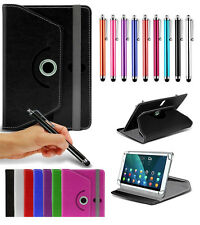 """For Toshiba Thrive AT105-T108S 10.1"""" Tablet Case 360 Rotating Stand Wallets +Pen"""