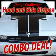 HOOD/SIDE STRIPES Vinyl Stripes Graphics Decals COMBO (3M Pro) fits Challenger
