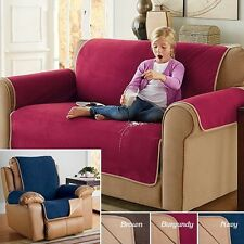 Fleece Waterproof Reversible Protector Cover Sofa Recliner Wing Loveseat XL NEW