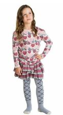 NWT Paper Wings Fall Girls Knitted Heart Garland Drawstring Tee