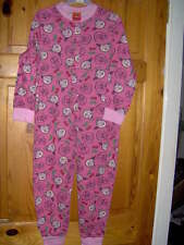 GIRLS ANGRY BIRDS ONESIE PINK  - AGE 5/6 - 7/8 YEARS