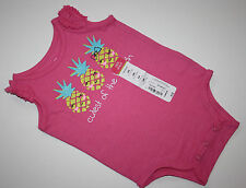 Okie Dokie Pink Pineapple Pineapples Bodysuit top Size 3 & 6 months
