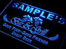 Personalized bar and grill light sign - home bar pub Neon led sign