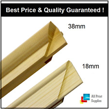 Canvas Stretcher Bars, Canvas Frames, Pine Wood 18mm & 38mm Thick-Sold By Pair-B