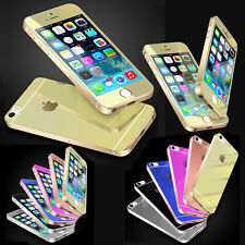 Tempered glass Film and Back mirror Sticker Screen Protector for iPhone 5 5S SE