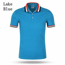 NEW BRAND Mens Lapel POLO Short Sleeve T-shirt Casual Solid Color Cotton T-shirt