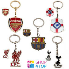 OFFICIAL FOOTBALL SOCCER CLUB TEAM CREST KEYRING KEY RING CHAIN & BADGE SET NEW