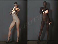 Catsuit Long Sleeve Crotchless Full Body Body Overalls Bodysuit Stockings Zentai