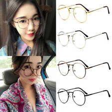 Mens Womens Unisex Nerd Glasses Clear Lens Eyewear Retro Fashion Metal Frame