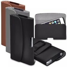 "For Gionee Marathon M5 mini (5"") Horizontal Faux Leather Belt Holster Pouch Case"