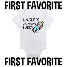 Uncle's Drinking Buddy Baby Clothes Shirt Gift Infant Unisex Gerber Onesie Funny