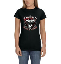 Lucky 7 Iron Rumblers Motorcycle Engine Chopper Biker Women's T-Shirt Tee