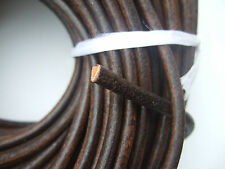 Dark Brown Genuine Soft Leather Finding 5mm Round Cords String Lace Rope