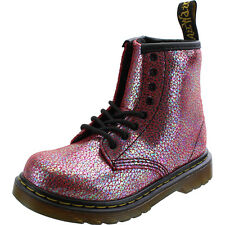 Dr Martens Brooklee Infant Pink Sparkly Leather Ankle Boots