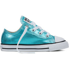 Converse Chuck Taylor All Star Metallic Infant Fresh Cyan Textile Trainers