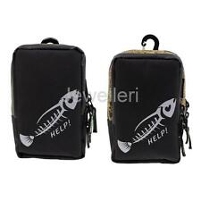 Canvas Fishing Bag Waist Pack Waterproof Jig Bait Lure Hooks Tackle Container