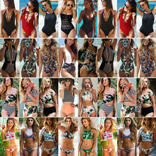 UK Womens Beach Swimwear Sexy Bikini Ladies Vintage Bandage Swimsuit Size 6-12 J