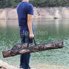 Double Layer Fishing Rod Bag Carrier Tackle Tools Organizer Holder Storage Case