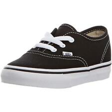 Vans Authentic Infant Black White Textile Trainers