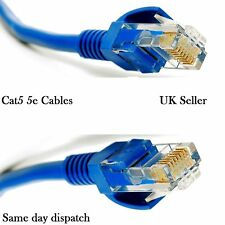 RJ45 CAT5 CAT5E Ethernet Network Lan Router Patch Cable Cord Blue UK Wholesale