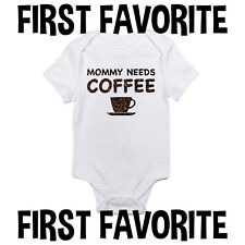 Mommy Coffee Baby Onesie Bodysuit Shirt Infant Shower Gift Mom Funny Cute Gerber