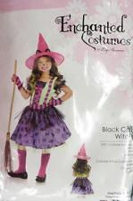 Black Cat Witch Gothic Wicked Cute Fancy Dress Up Halloween Child Costume