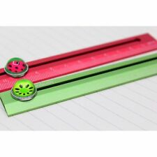 Fruit Lovely Metal Straight Golden 15cm Watermelon Ruler Silver Color Cute