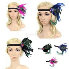 Vintage Feather Headbands 1920s Charleston Flapper Girl Dress Up Ball Costume