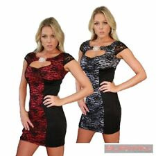 Womens New Dress Size 8-10 Sexy Lace Sleeveless Jewel Casual Hot Party Club Wear