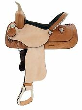 NEW WESTERN BARREL RACING TRAIL PLEASURE SADDLE WITH TACK SET