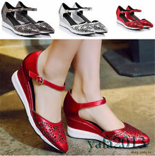 New Womens Shoes Cow Leather Fashion Sneakers Sport Sandals Wedge Summer Oxfords