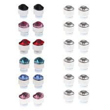 Glitter Colorful Rhinestone 12 Pairs Mixed Color Magnets No Piercing Ear Stud