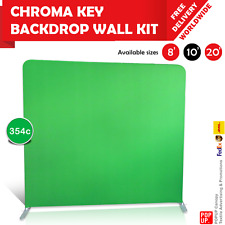 8ft, 10ft, 20ft Chroma Key Tension Fabric Backdrop Wall Kit - Green Screen