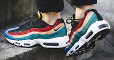 "NIKE WMNS AIR MAX 95 ""MULTICOLOUR PONY HAIR"" UK 6 7 8 ANIMAL PATTA 97"