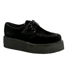 Demonia V-Creeper-502S Platform Shoes - Gothic,Goth,Punk,Black,Creepers,Buckle