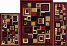 HOME DYNAMIX  ARIANA  3 PC ABSTRACT MULTI-RED TRADITIONAL  5 X 7 AREA RUG