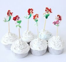 THE LITTLE MERMAID CUPCAKE TOPPERS PICKS DISNEY BIRTHDAY PARTY PRINCESS ARIEL