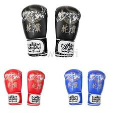Boxing Gloves Adult Child PU Leather Fighting Sparring Kickboxing MMA Punch