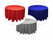 """13 PACK 90"""" inch ROUND Tablecloth Polyester WEDING Banquet Overlay"""