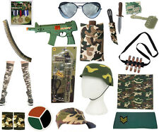 Accessories Camouflage Military Army Caps Paint Dagger Cigar Bullet Medals
