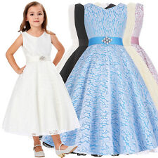 Flower Girl Pageant Dress Formal Ball Gown Princess Party Prom Birthday Dresses