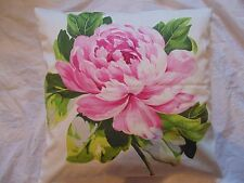 Designers Guild 100% Cotton Fabric Charlottenberg Peony Cushion Cover / Pillow