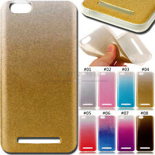 For Lenovo Vibe C Glitter Cover Silicone Gradient TPU Case Bling Back Soft Skin